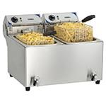 Friteuse électrique professionnelle 2 bacs