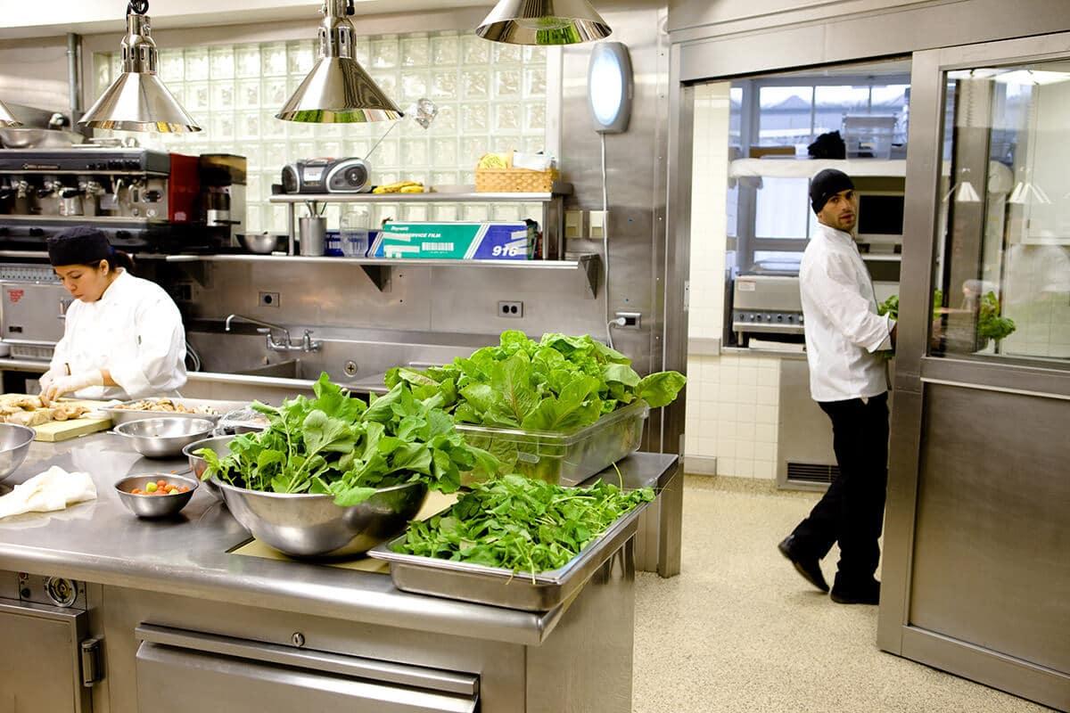Stockage et préparation en restaurant