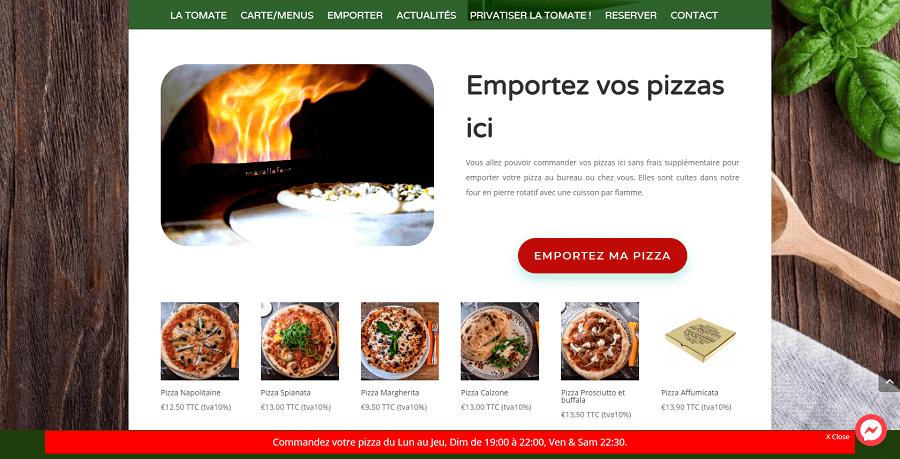 Communiquez sur votre site et proposez la commande des plats sur votre site